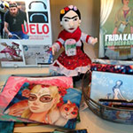 Frida at the Cameron Art Museum Gift Shop