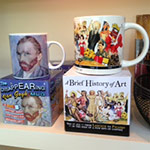 Mugs at the Cameron Art Museum Gift Shop