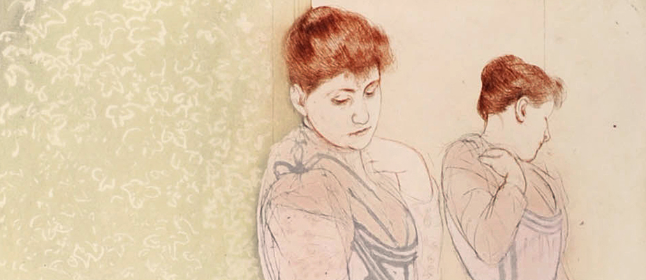 Mary Cassatt (American, 1844-1926), The Fitting [Detail], 1891, Drypoint and aquatint. Gift of Thérèse Thorne McLane in honor of Samuel Hudson Hughes and Zelina Comegys Brunschwig, 1984.2.5